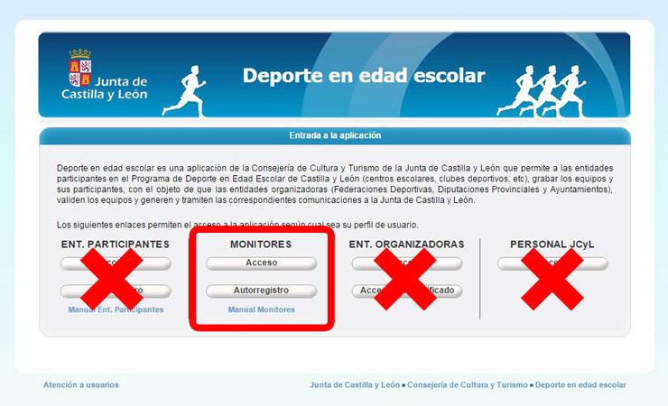 Imagen que muestra como debe acceder el usuario para registrarse en la aplicación DEBA